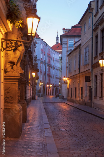 Narrow prague street