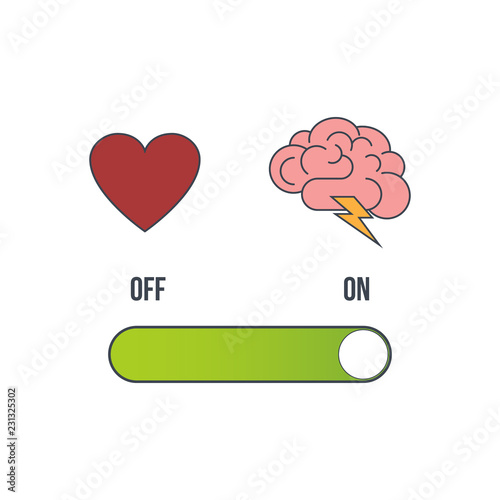 Photo Heart and brain selection button