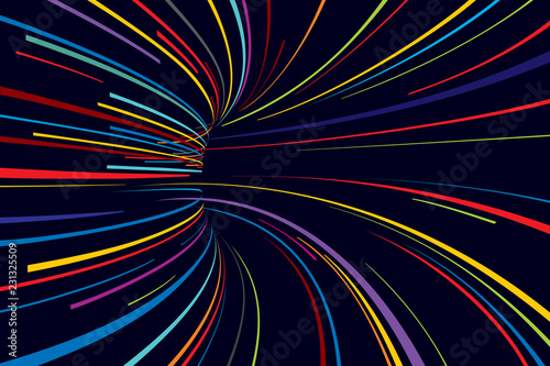 Abstract line vector background Canvas Print
