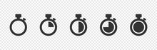 Set Of Timer Vector Icons On T...