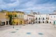 Piazza San Francesco in historical centre Sassi di Matera, Italy