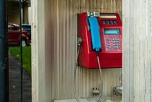 Red Telephone Box, Blue Handset.