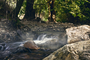Naklejka na ściany i meble Water stream In Izmir Turkey Kemalpasa.