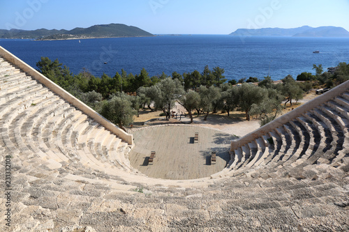 Foto op Canvas Theater Mediterranean View from Ancient Roman Amphitheatre in Kas,Antalya,Turkey