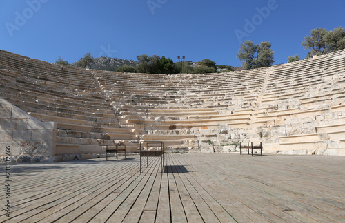 Foto op Canvas Theater Ancient Roman Amphitheatre in Kas,Antalya,Turkey