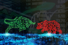 Polygonal Bull And Bear Shape ...