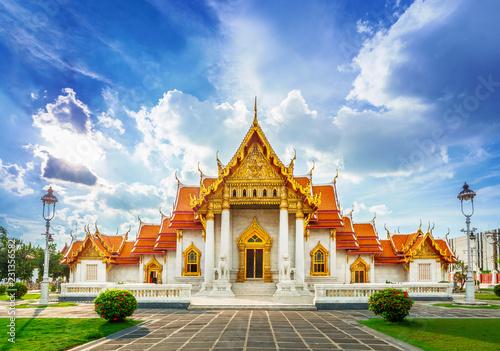 Tuinposter Bangkok Wat Benchamabopit Dusitvanaram, Bangkok, Thailand, The marble temple