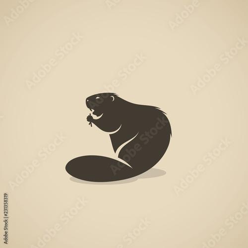 Beaver animal Wallpaper Mural