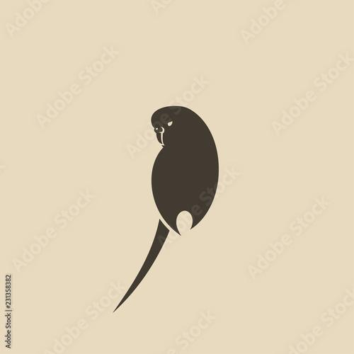 Naklejka premium Ikona budgie - papużka falista, papuga