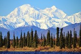 Fototapeta Góry - Denali in Alaska, is the highest mountain peak in North America.