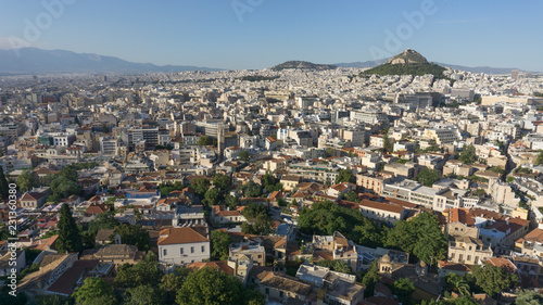 City of Athens, Greece, seen from above