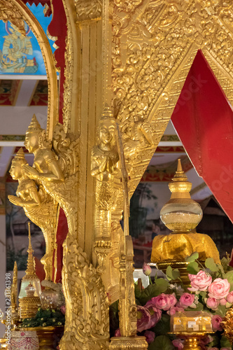 Photo  Relics of the Buddha : Phrathat Kham Kaen Nakhon,Thailand
