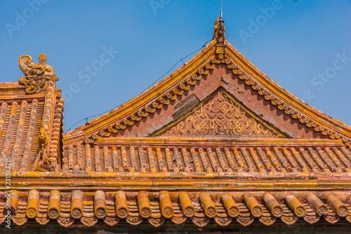 Peking Verbotene Stadt Ziegeldach Detail