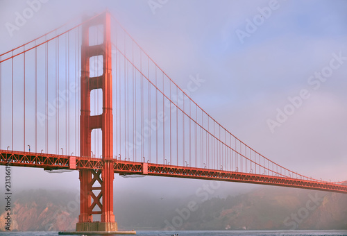 Staande foto Amerikaanse Plekken Golden Gate Bridge at morning, San Francisco, California