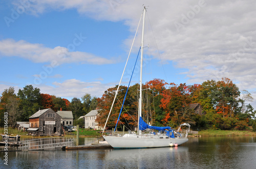 Photo  Sailboat at High Tide