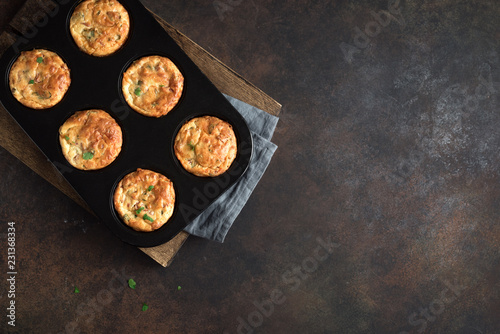 Fotografia Protein breakfast egg muffins