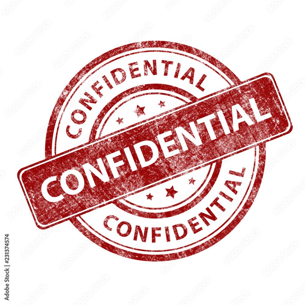 Fototapeta Red stamp grunge confidential