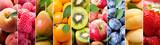 Fototapeta Fototapety do kuchni - collage of various fresh fruits