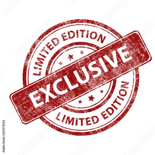 Fotografía Red stamp grunge limited edition exclusive