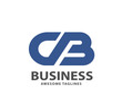 creative strong initial letter cb logo vector concept