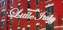 'Welcome To Little Italy' Sign...