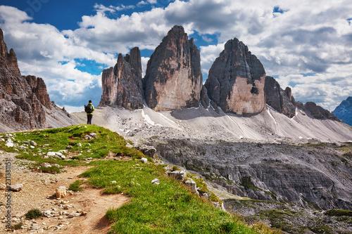 Fotografie, Obraz  World famous peaks of Tre Cime di Lavaredo National park, UNESCO world heritage
