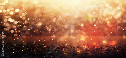 Fotografie, Obraz  Colorful abstract shiny light and glitter background