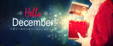 Hello December Message With Sa...