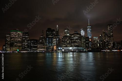 Fototapety, obrazy: ニューヨーク・マンハッタンの夜景