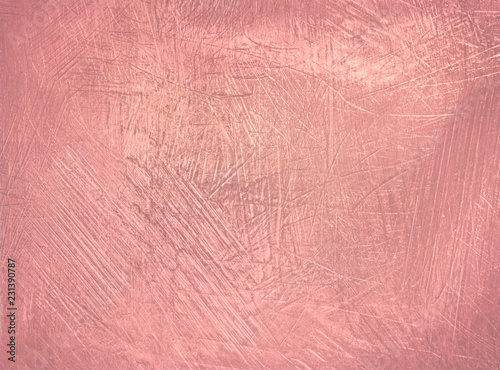 Fotografie, Obraz  Rose gold metal texture. Luxure soft foil background.