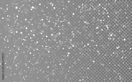 Christmas snow Fototapet