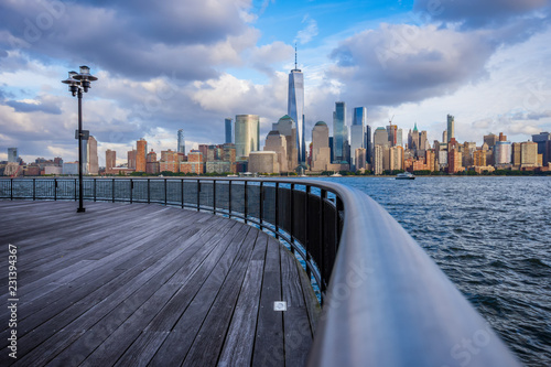 Canvas Print Manhattan skyline view from Jersey City waterfront
