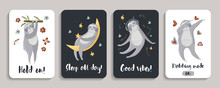 Templates For Mobile Phone Covers With Sloths.