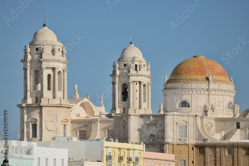 Spoed Foto op Canvas Historisch geb. Cathedral of Cadiz, Spain