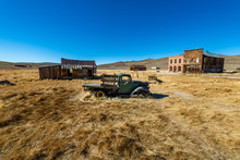 Early Morning Glow Over The Bodie Ghost Town