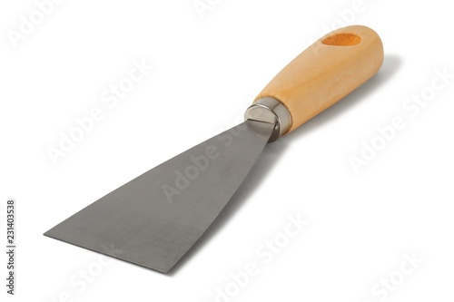 Obraz Steel scraper on whte - fototapety do salonu