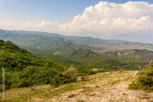 Foto op Aluminium Blauwe hemel Mountain landscape