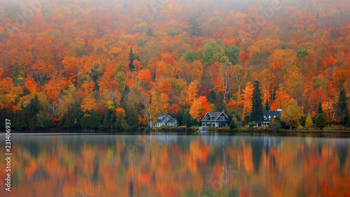 fototapeta na drzwi i meble Lake Ouimet near Mont Tremblant in Quebec.