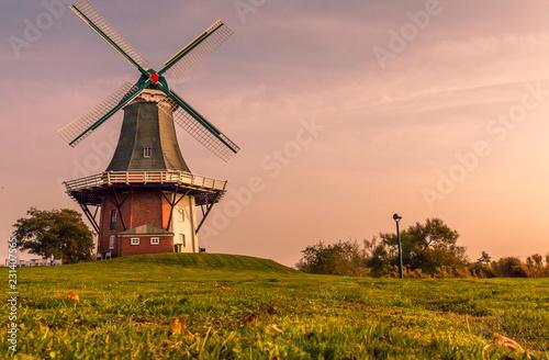 Mühle in Ostfriesland Fototapet