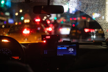 Interior View Of Taxi Cab Stuc...