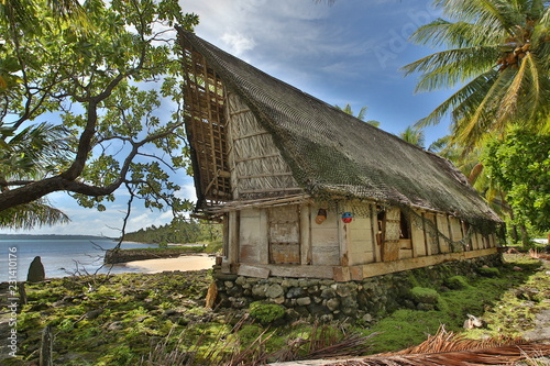 Traditional building Yap, Micronesia