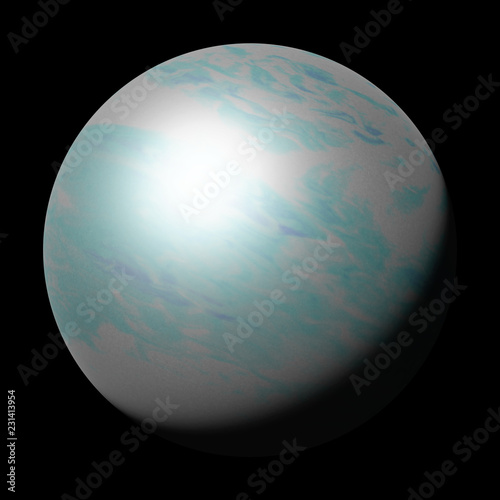 Fotografie, Obraz  planet Uranus, part of the solar system isolated on black background