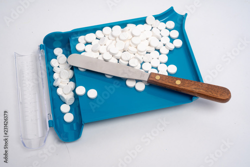 Photo  Prescription medication Pill Sorting, Counting and Filling Order