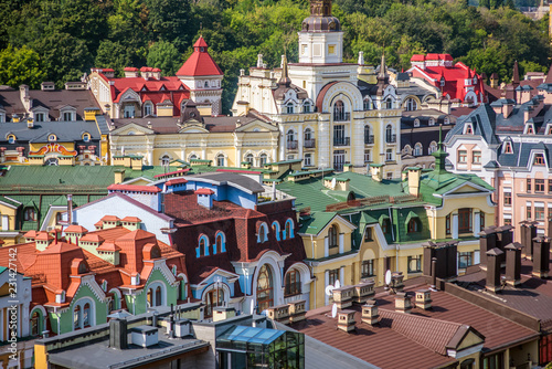 Staande foto Kiev Colorful roofs of the city