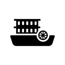 Paddlewheeler Icon. Trendy Paddlewheeler Logo Concept On White Background From Transportation Collection
