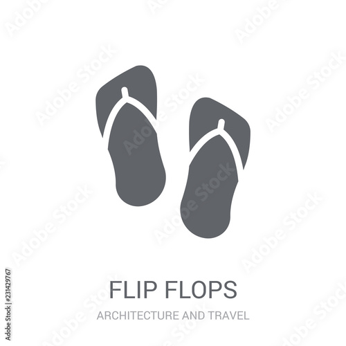 d65a0eb26 Flip flops icon. Trendy Flip flops logo concept on white background from  Architecture and Travel