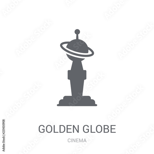 Golden globe icon Canvas Print