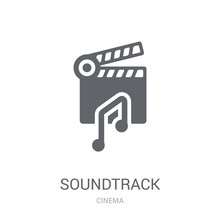 Soundtrack Icon. Trendy Soundtrack Logo Concept On White Background From Cinema Collection