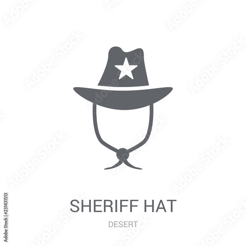 08cae01d Sheriff Hat icon. Trendy Sheriff Hat logo concept on white background from  Desert collection