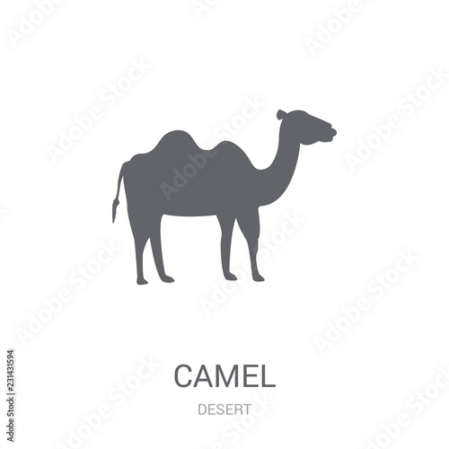 f63c3c80f85 Camel icon. Trendy Camel logo concept on white background from Desert  collection